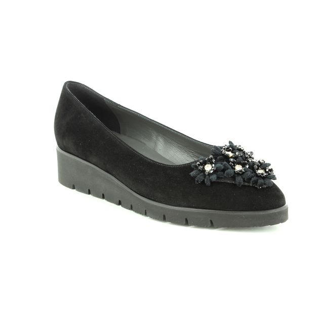Peter Kaiser Wedge Shoes - Black suede - 20263/240 NAYA