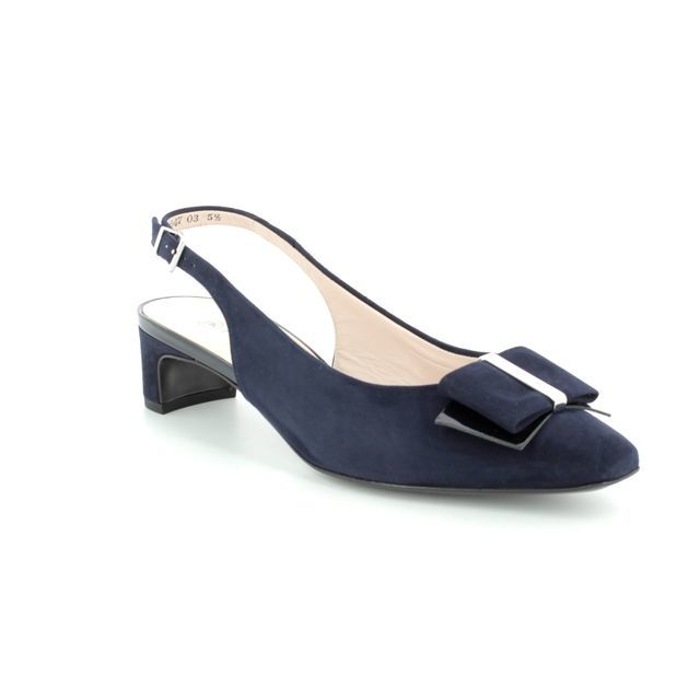 Peter Kaiser Heeled Shoes - Navy patent-suede - 27153/104 SILIA