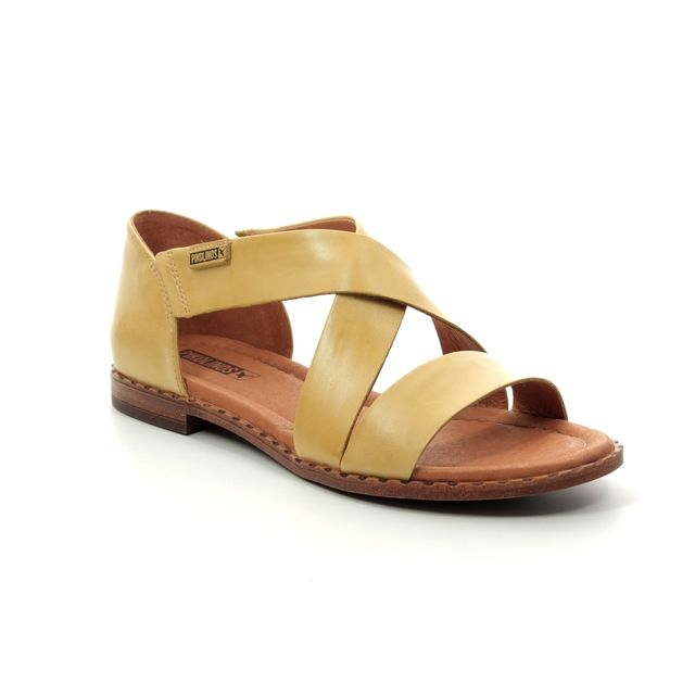 Pikolinos Algar W0X0552-08 Yellow Flat Sandals
