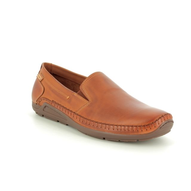 Pikolinos Slip-on Shoes - Brown leather - 06H5303/20 AZOR
