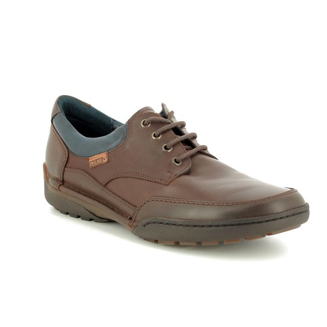 Pikolinos Casual Shoes - Brown leather - M2J4235/20 ESTOCOLMO LACE