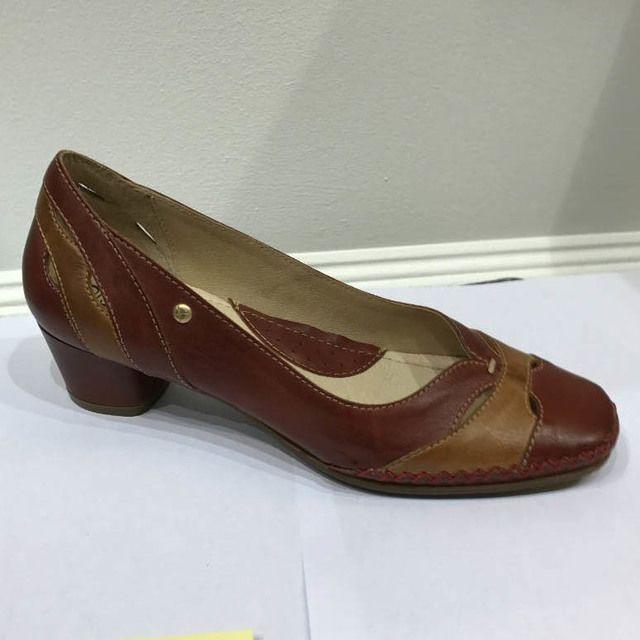 Pikolinos Heeled Shoes - RED TAN - W6R5831/C1 GOMERA