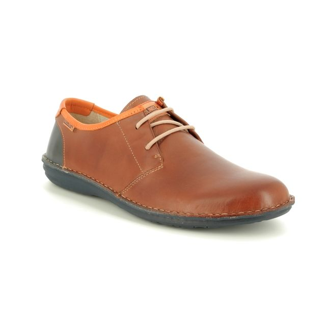 Pikolinos Casual Shoes - Brown leather - M8M4298/11 SANTIAGO