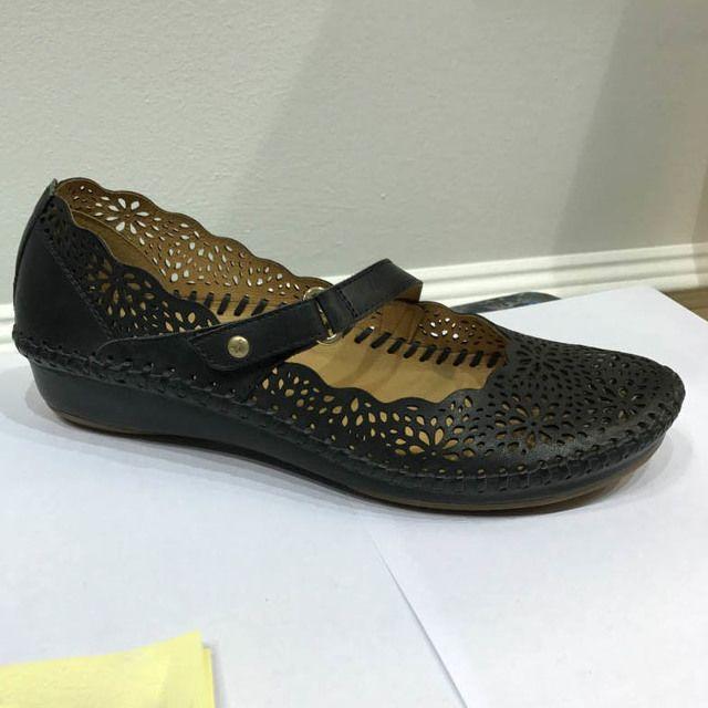 Pikolinos Vallarta Jane 6551573-70 Navy Mary Jane Shoes