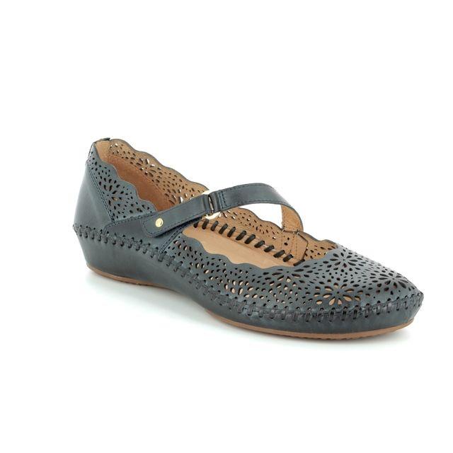 Pikolinos Mary Jane Shoes - Navy - 6551573/70 VALLARTA JANE