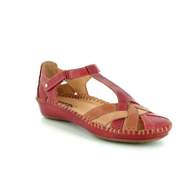 Pikolinos Closed Toe Sandals - RED TAN - 6550732/C5 VALLARTA WEAVE