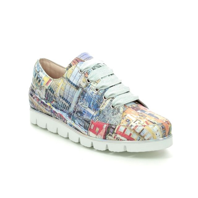 Pinto Di Blu Foeton 20817234-02 White Leather lacing shoes