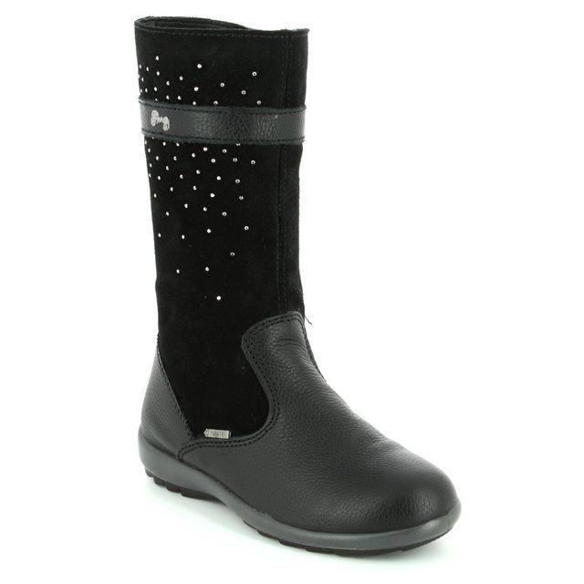Primigi Boots - Black suede or snake - 8567200/33 BEJA GORE TEX