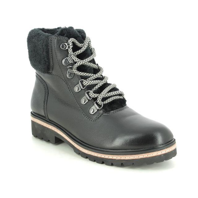 Regarde le Ciel Lace Up Boots - Black leather - 2046/4658 BRANDY 01