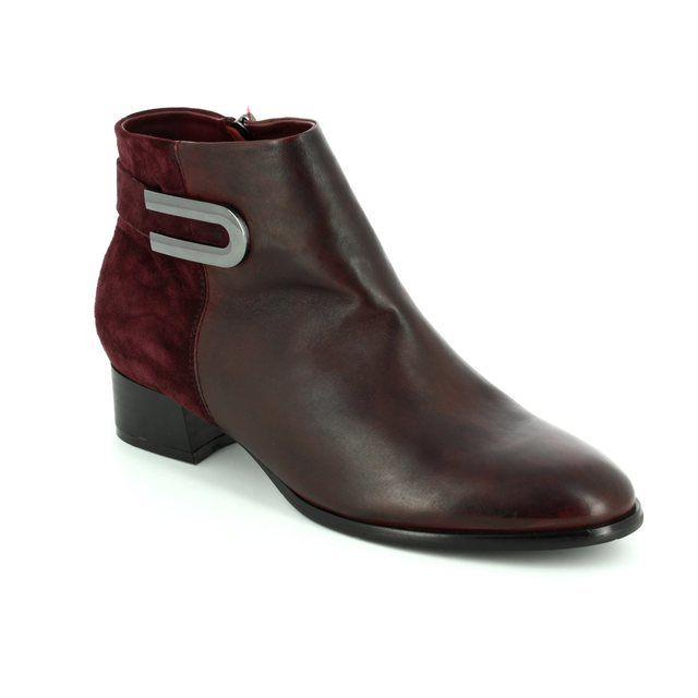 Regarde le Ciel Ankle Boots - Wine - 1002/80 CRISTION 07