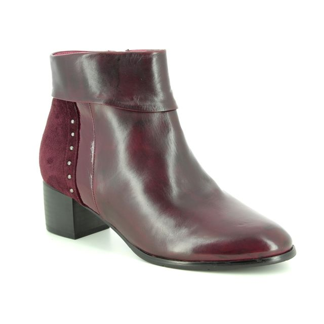 Regarde le Ciel Corinne 02 3868-81 Wine leather ankle boots