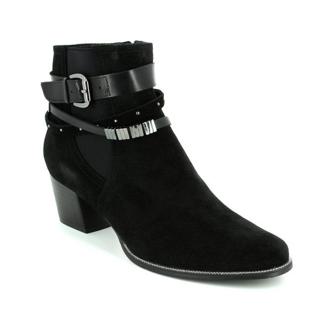Regarde le Ciel Isabel 26 1004-30 Black suede ankle boots
