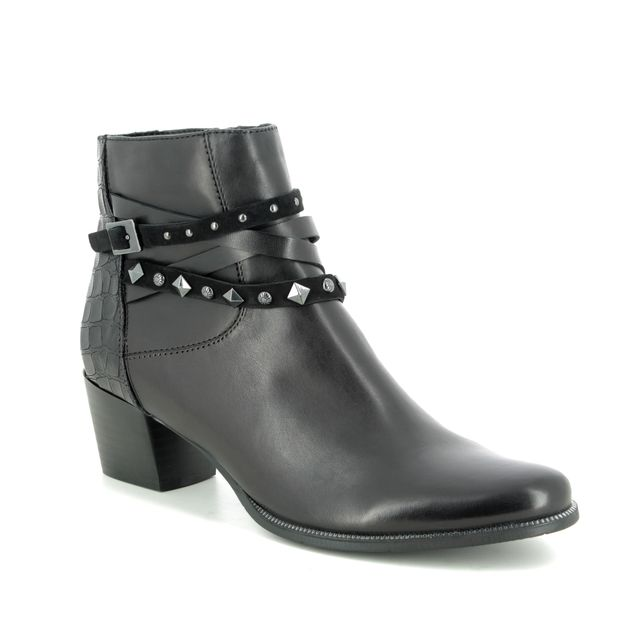Regarde le Ciel Ankle Boots - Black leather - 4642/30 ISABEL 68