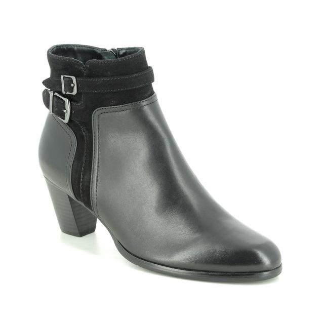 Regarde le Ciel Heeled Boots - Black leather - 2076/5301 SONIA  76
