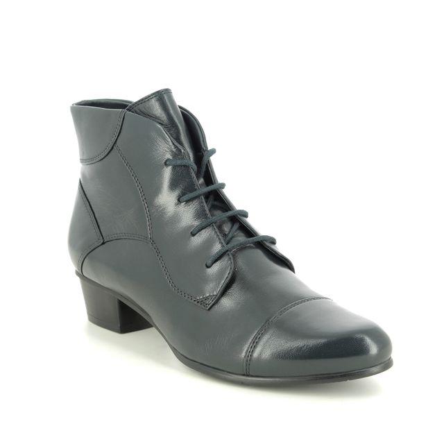 Regarde le Ciel Lace Up Boots - Navy leather - 0123/150 STEFANY 123 LACE