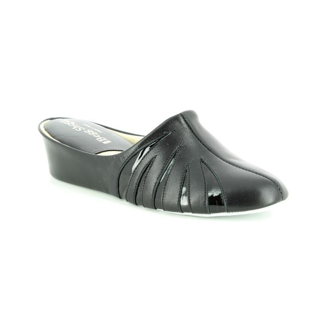 Relax Slippers Slippers - Black patent - 3539/ TIGER