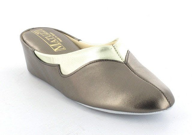 Relax Slippers Trim  3131-88 3131-11 Pewter multi slippers