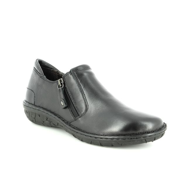 Relaxshoe Comfort Shoes - Black leather - 26787/30 AMUZE