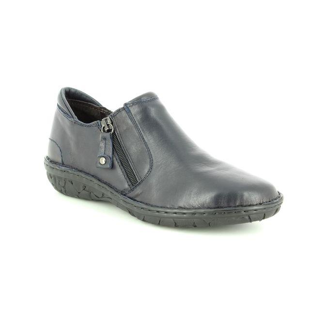 Relaxshoe Comfort Shoes - Navy leather - 26787/70 AMUZE
