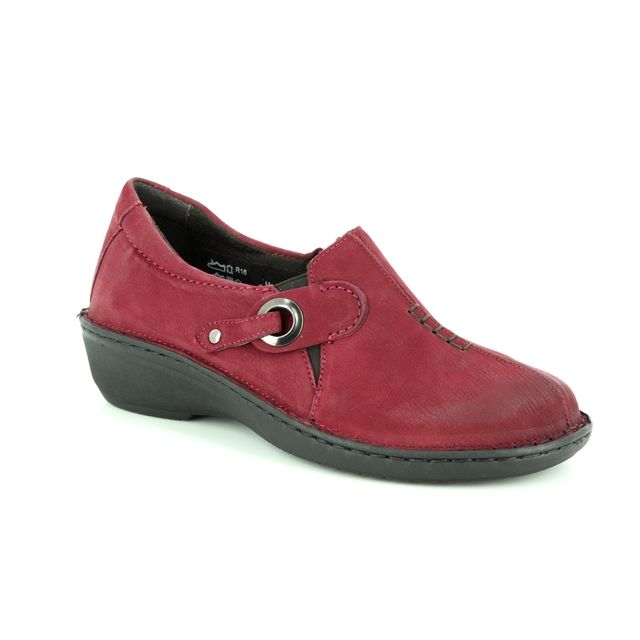 Relaxshoe Comfort Shoes - Dark Red - 891016/80 AMY UNDER
