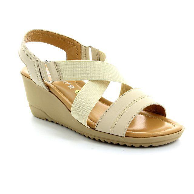 Relaxshoe Bewedged 044030-50 Beige sandals