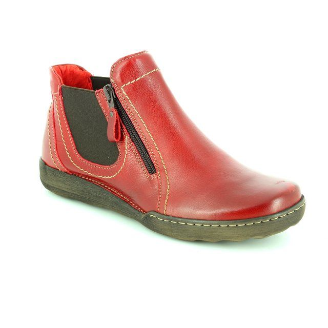 Relaxshoe Ankle Boots - Red - 021503/80 CALYCHE