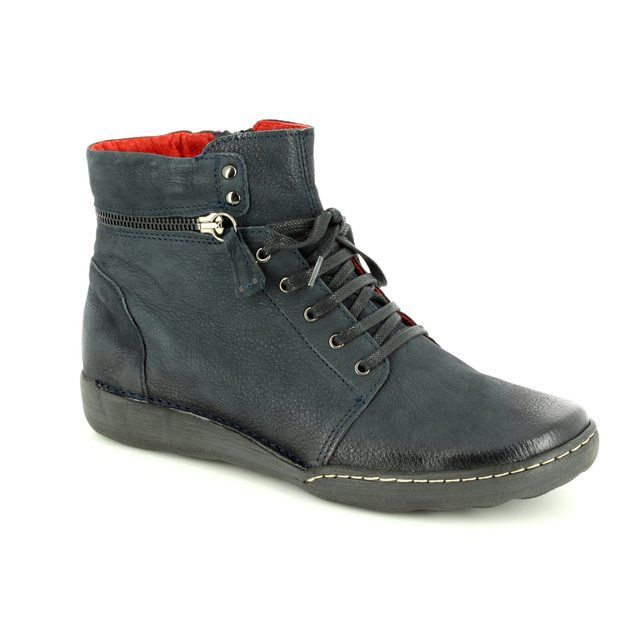 Relaxshoe Calyhize 215154-70 Navy nubuck ankle boots