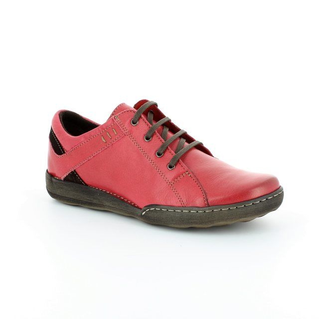Relaxshoe Calypso 21512-48 Red lacing shoes
