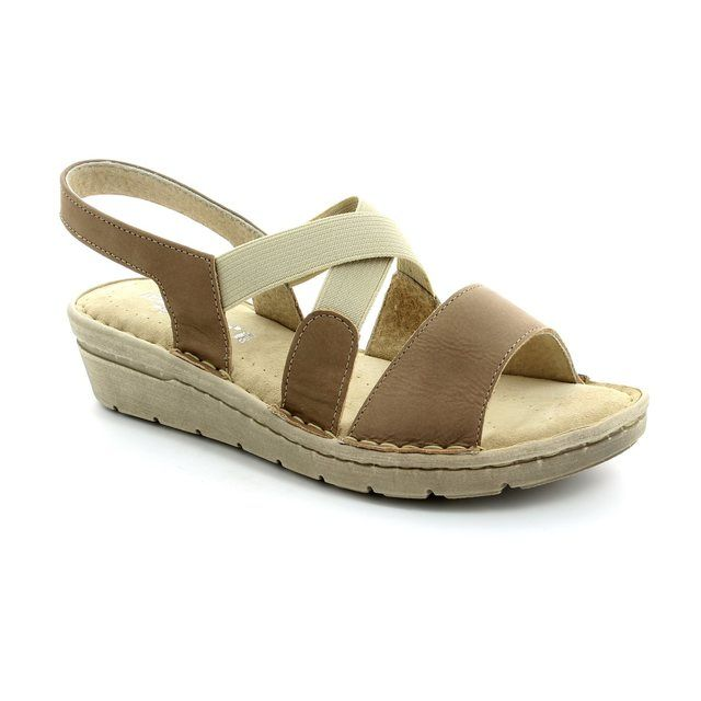 Relaxshoe Sandals - Taupe nubuck - 132105/50 FLORA