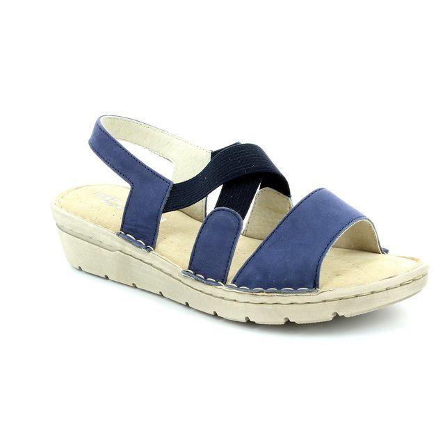 Relaxshoe Flora 132105-70 Blue sandals
