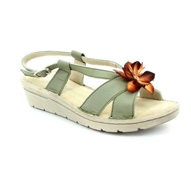 Relaxshoe Sandals - Olive - 132102/90 FLORAL