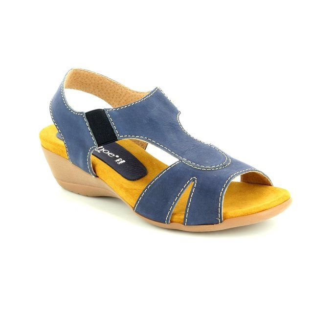 Relaxshoe Honestly 104107-70 Navy nubuck sandals