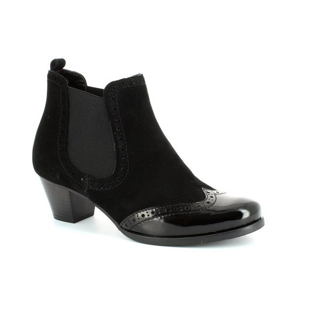 Relaxshoe Marzia 16010-13 Black patent/suede ankle boots