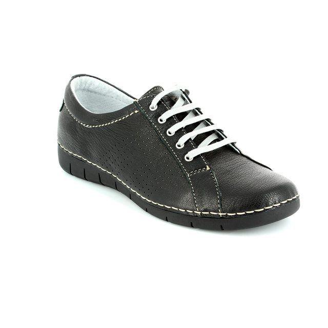 Relaxshoe Naola 200109-30 Black lacing shoes