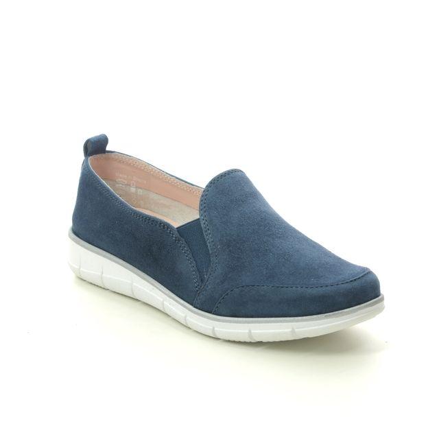 Relaxshoe Comfort Slip On Shoes - Navy Suede - 516007/70 NAOMI  SLIP