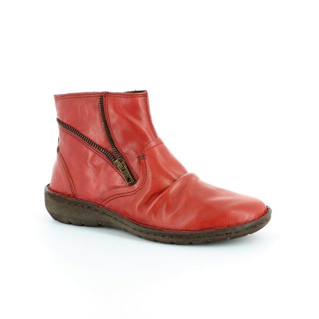 Relaxshoe Ankle Boots - Red - SUFFLE 37517/80
