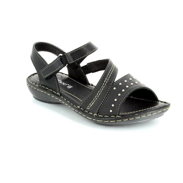 Relaxshoe Torri 009793-30 Black sandals