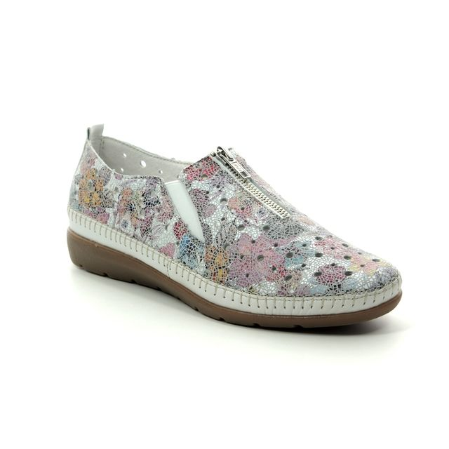 Remonte Comfort Slip On Shoes - Floral print - D1929-90 AEROZIP