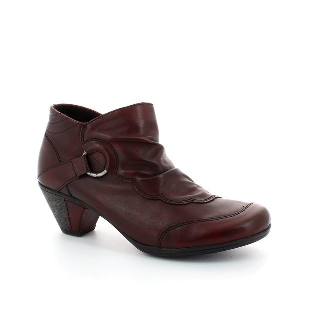 Remonte Annies D1276-35 Wine ankle boots