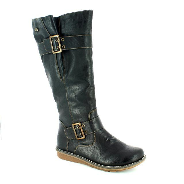 Remonte Knee-high Boots - Black - R1073-02 ASTREX TEX
