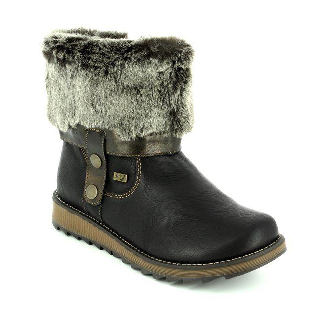 Remonte Astriturn Tex D8874-01 Black knee-high boots
