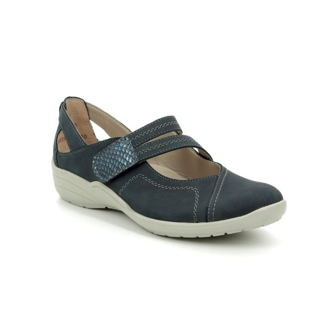 Remonte Mary Jane Shoes - Navy nubuck - R7615-14 BERTABAR