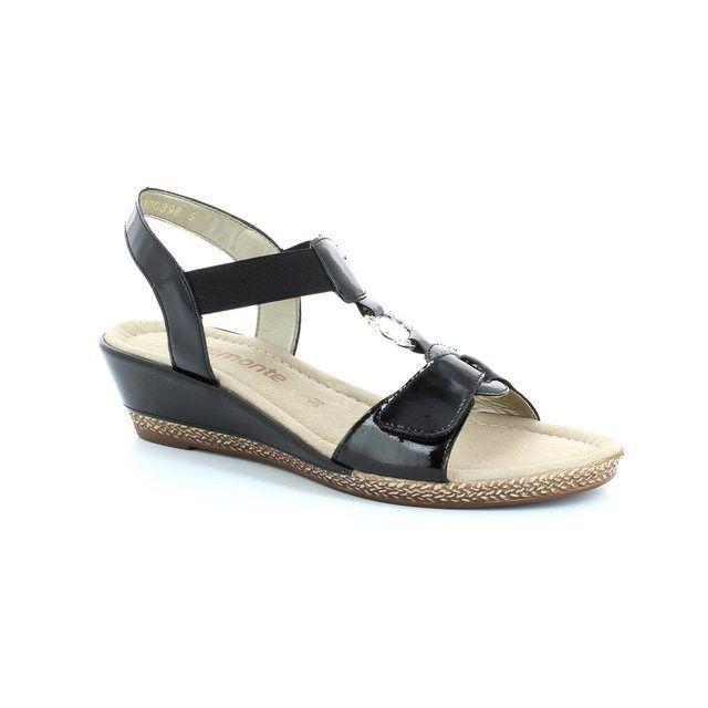 Remonte Boni D2460-01 Black patent sandals