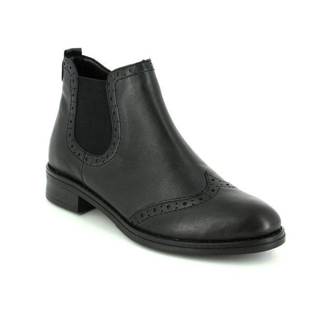 Remonte Chelsea Boots - Black - D8581-01 BROGUE 72