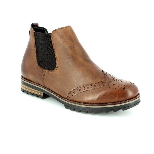 Remonte Chelsea Boots - Tan - R2287-24 CHELSEA ZIG