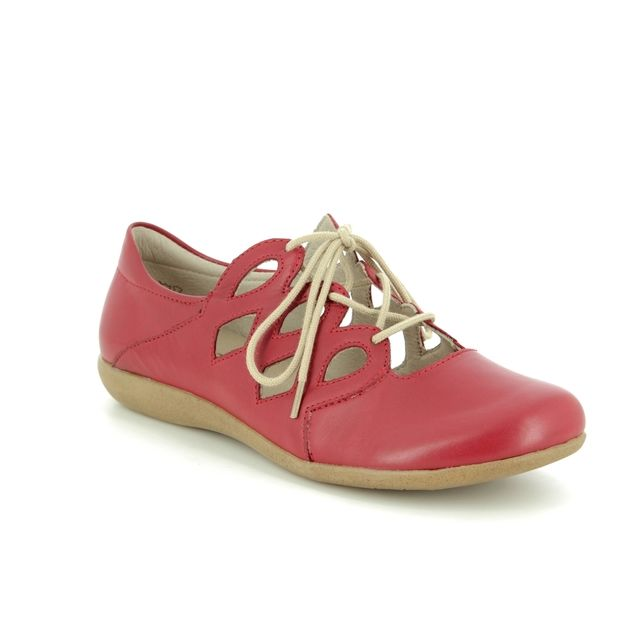 Remonte Lacing Shoes - Red leather - R3801-33 FIONA LACE