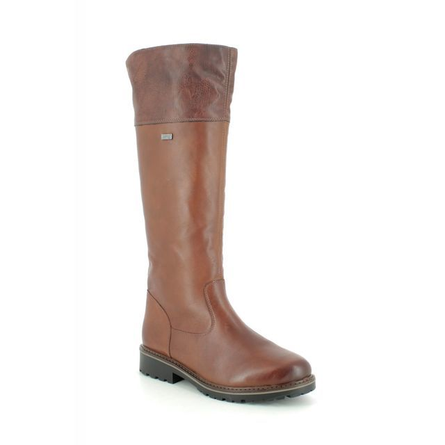 Remonte Knee-high Boots - Tan Leather - R6581-22 INDAH TEX