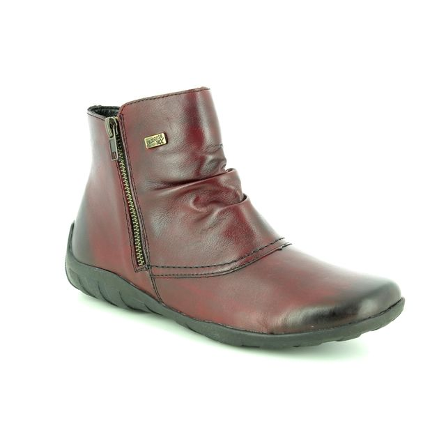 Remonte Ankle Boots - Wine leather - R3494-35 LIVBIRBOOT TEX
