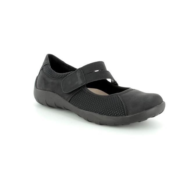 Remonte Mary Jane Shoes - Black - R3510-02 LIVGOSTEP