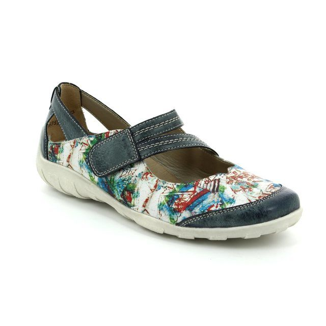 Remonte Mary Jane Shoes - Blue multi - R3427-14 LIVIOLA